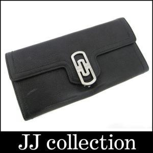 BVLGARI ブルガリ パレンテシ 2つ折り長財布 レザー ブラック×ルテニウム金具|jjcollection2008