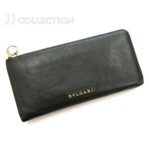 BVLGARI ブルガリ 長財布 モネーテ ブラック レザー ゴールド金具 コインチャーム|jjcollection2008