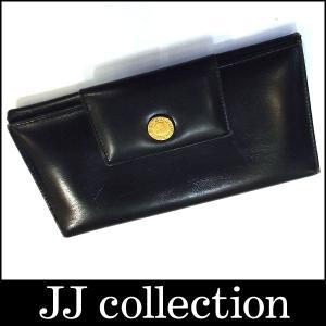BVLGARI ブルガリ 小銭入れ付 三つ折り長財布 レザー ブラック(黒)|jjcollection2008