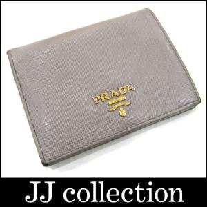 PRADA プラダ 二つ折り財布 ARGILLA アルジリア(グレー系) サフィアーノメタル|jjcollection2008