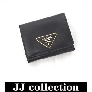 PRADA プラダ 三つ折り財布 サフィアーノ トライアングルロゴ 【中古】[hs]|jjcollection2008