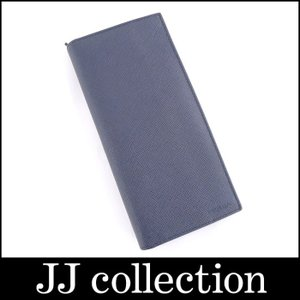 PRADA プラダ 二つ折り長財布 サフィアーノ レザー ネイビー|jjcollection2008