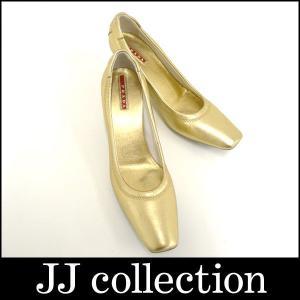 PRADA プラダ パンプス レザー ゴールド×シルバー 表記サイズ36|jjcollection2008