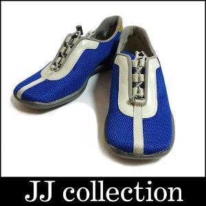 PRADA プラダ SPORT スポーツ スニーカー レディース メッシュシューズ ブルー×グレー|jjcollection2008