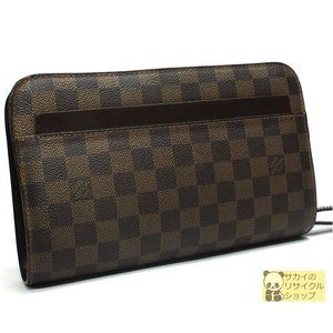 LOUIS VUITTON ルイヴィトン セカンドバッグ サンルイ ダミエ エベヌ|jjcollection2008