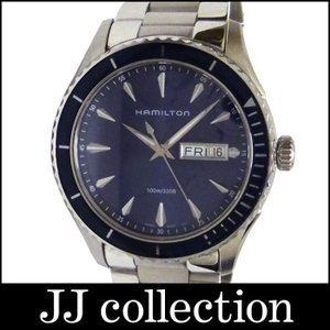 HAMILTON ハミルトン メンズ腕時計 ジャズマスター シービュー デイデイト SS クオーツ ネイビー文字盤|jjcollection2008