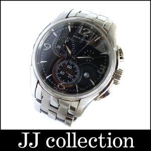 HAMILTON ハミルトン メンズ腕時計 ジャズマスター クロノグラフ SS シルバー クオーツ ブラック文字盤 jjcollection2008