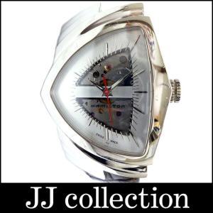 HAMILTON ハミルトン メンズ腕時計 ベンチュラ SS×革 自動巻き スケルトン シルバー|jjcollection2008