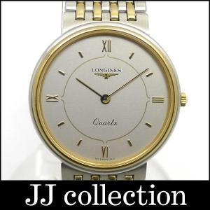 ロンジン メンズ腕時計 ラウンド SS/GP クオーツ シルバー文字盤中古|jjcollection2008