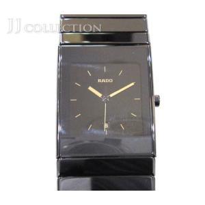 RADO ラドー セラミカ メンズ腕時計 クオーツ ブラック×ゴールド SS/ステンレス|jjcollection2008