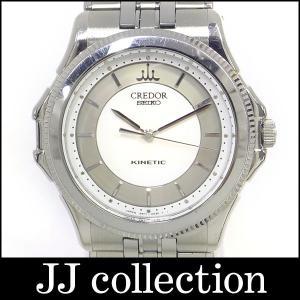 SEIKO CREDOR セイコー クレドール パシフィーク キネティック メンズ腕時計 SS×WG|jjcollection2008