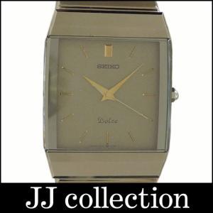 SEIKO セイコー メンズ腕時計 ドルチェ SS クオーツ ブラウン文字盤|jjcollection2008