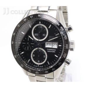 TAG Heuer タグホイヤー カレラ クロノグラフ デイデイト キャリバー16 CV201AG.BA0725 自動巻き SS メンズ腕時計【中古】[mo]|jjcollection2008