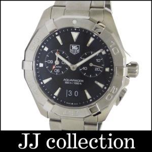 TAG HEUER タグホイヤー メンズ腕時計 アクアレーサー アラーム SS クオーツ ブラック文字盤|jjcollection2008