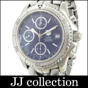 TAG HUERER タグホイヤー メンズ腕時計 リンク クロノグラフ 自動巻き ネイビー文字盤 SS/ステンレス|jjcollection2008