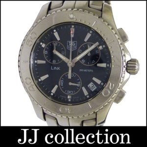 TAG HEUER メンズ腕時計 リンク クロノグラフ SS クオーツ ネイビー文字盤|jjcollection2008