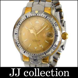 TAG HEUER タグホイヤー メンズ腕時計 プロフェッショナル 6000シリーズ SS×YG クオーツ ゴールド文字盤|jjcollection2008