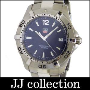 TAG HEUER メンズ腕時計 アクアレーサー SS クオーツ ネイビー文字盤|jjcollection2008