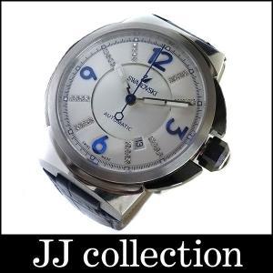 SWAROVSKI スワロフスキー オートマ メンズ腕時計 Piazza Grande SS×レザー ブルー系×シルバー jjcollection2008