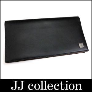 dunhill 二つ折り長財布 札入れ レザー ブラック×シルバー金具|jjcollection2008