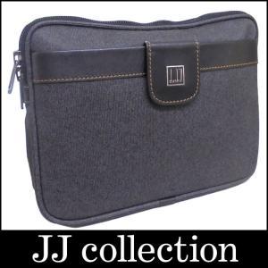 dunhill ダンヒル クラッチバッグ セカンドバッグ コンフィデンシャル ブラック×グレー PVC×レザー|jjcollection2008