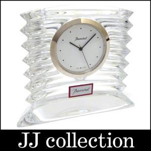 バカラ 置時計 ラランドクロックス クリア クオーツ ホワイト文字盤中古 jjcollection2008
