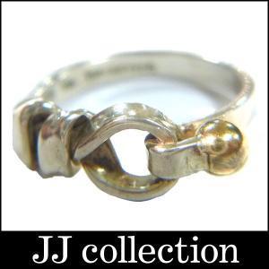 TIFFANY&Co. ティファニー フック&アイ リング シルバー925×ゴールド750 約8.5号|jjcollection2008