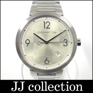 LOUIS VUITTON メンズ腕時計 タンブール ダミエ Q1D010 クオーツ SS シルバー文字盤 ラグジュアリーでクラシック jjcollection2008