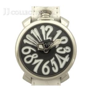 GaGa MILANO ガガミラノ ボーイズ腕時計 マヌアーレ40 40mm SS×レザー クオーツ ブラック文字盤 5020.4【中古】[hs]|jjcollection2008