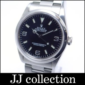 ROLEX ロレックス エクスプローラー1 Ref.14270 SS メンズ腕時計 ブラック 3.6.9文字盤 P番 Wロックバックル|jjcollection2008