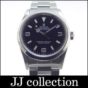 ROLEX ロレックス エクスプローラー1 Ref.14270 SS メンズ腕時計 ブラック 3.6.9文字盤 U番 Wロックバックル|jjcollection2008