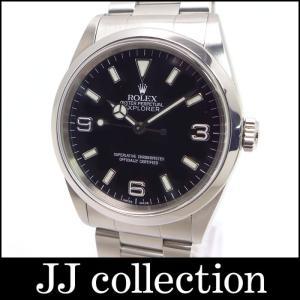 ROLEX ロレックス エクスプローラーI 14270 SS A番 ブラック文字盤 メンズ腕時計【中古】[mo]|jjcollection2008