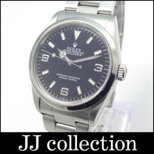 ROLEX ロレックス エクスプローラー1 369文字盤 Ref.14270 メンズ腕時計 自動巻き ダブルロック ブラック文字盤|jjcollection2008