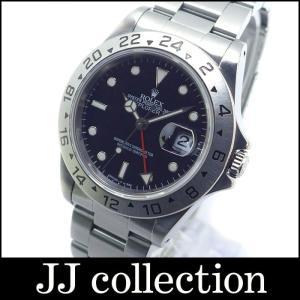 ROLEX ロレックス エクスプローラー2 Ref.16570 U番 SS ブラック文字盤 メンズ腕時計|jjcollection2008