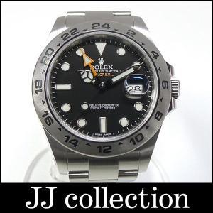 ROLEX ロレックス エクスプローラー2 Re.216570 ルーレット刻印 G番 SS ブラック文字盤 メンズ腕時計|jjcollection2008