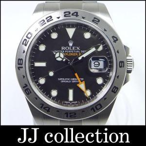 ROLEX ロレックス エクスプローラー2 Ref.216570 ルーレット刻印 ランダム番 SS ブラック文字盤 メンズ腕時計中古|jjcollection2008