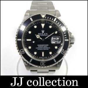 ROLEX ロレックス メンズ腕時計 サブマリーナデイト Ref16610 U番 ブラック(黒)文字盤中古|jjcollection2008