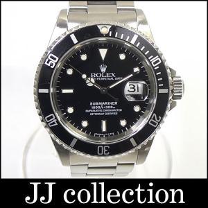 ROLEX メンズ腕時計 サブマリーナデイト Ref16610 T番 ブラック文字盤中古|jjcollection2008
