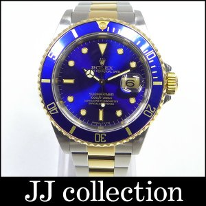 ROLEX メンズ腕時計 サブマリーナデイト Ref16613 E番 青サブ|jjcollection2008