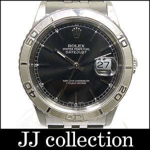 ROLEX ロレックス デイトジャスト サンダーバード Ref.16264 Y番 SS×K18WG ブラック文字盤 メンズ腕時計中古 jjcollection2008