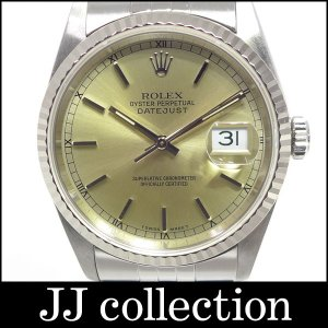 ROLEX ロレックス Ref.16234 X番 オイスターパーペチュアル・デイトジャスト メンズ腕時計 SS×WG