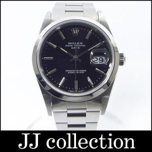 オイスターパーペチュアルデイト Ref15200 S番 自動巻き ブラック文字盤 メンズ腕時計|jjcollection2008