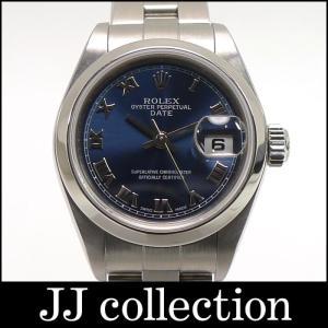 ROLEX ロレックス オイスターパーペチュアル デイト Ref.79160 SS レディース腕時計 自動巻き ブルーローマン文字盤 Y番|jjcollection2008