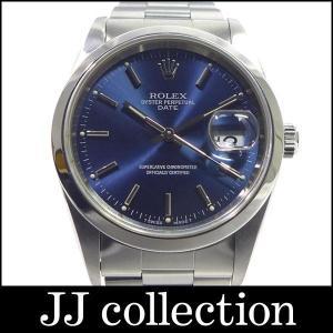 パーペチュアルデイト Ref15200 W番 自動巻き ブルー文字盤 ボーイズ腕時計|jjcollection2008