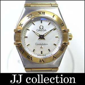 OMEGA オメガ レディース腕時計 コンステレーションミニ SS×YG コンビ クオーツ ホワイトシェル文字盤|jjcollection2008