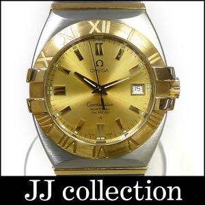 OMEGA オメガ メンズ腕時計 コンステレーション ダブルイーグル パーペチュアル K18YG×SS クオーツ ゴールド文字盤|jjcollection2008