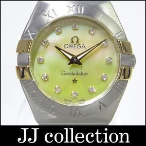 OMEGA オメガ コンステレーション ブラッシュ レディース腕時計 SS×YG 12Pダイヤ|jjcollection2008