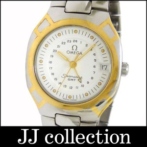 OMEGA オメガ メンズ腕時計 シーマスターポラリスGMT SS×GP クオーツ ホワイト(白)文字盤中古|jjcollection2008