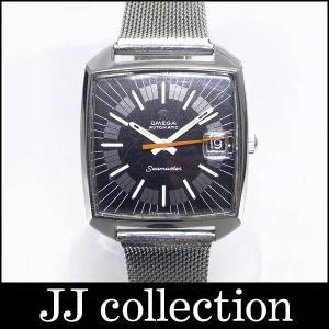 OMEGA オメガ シーマスタースクエア ブラック文字盤 自動巻き アンティーク オレンジ針|jjcollection2008