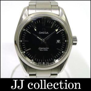 OMEGA メンズ腕時計 シーマスター アクアテラ SS クォーツ 2518.50 ブラック文字盤中古|jjcollection2008